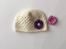 Detské čiapky - Čiapočka Flower / Flower Hat - 9381740_