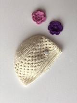 Detské čiapky - Čiapočka Flower / Flower Hat - 9381741_