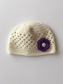 Detské čiapky - Čiapočka Flower / Flower Hat - 9381743_