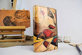 Peňaženky - Ručne maľovaná peňaženka s motívom abstrakt - 9384903_