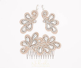 Sady šperkov - Svadba 2018 - set s čipkou a kryštálmi - 9382474_