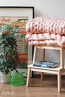 Úžitkový textil - Obria pletená deka Merino -100X160 - 9382081_