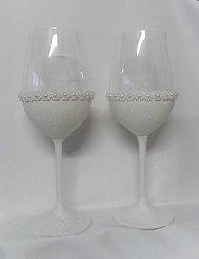 Darčeky pre svadobčanov - Svadobné poháre biele - 9381490_