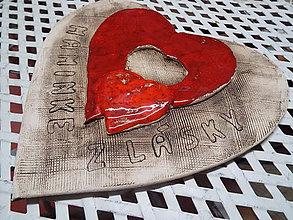 Dekorácie - Veľké srdce s prianím - 9381602_