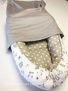 Textil - OBAL NA HNIEZDO pre bábätka - 9384953_