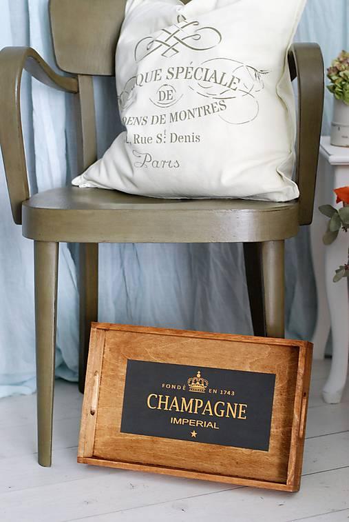 Podnos Champagne