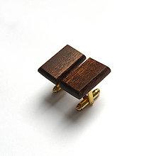Šperky - Mahagónové obdĺžniky - 9382996_