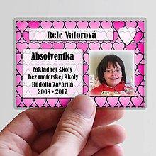 Papiernictvo - Absolventská menovka srdiečka - 9384200_
