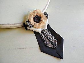 Odznaky/Brošne - Dámska kravata/brošňa pod golier ELEGANT - 9389253_