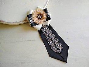 Odznaky/Brošne - Dámska kravata/brošňa pod golier LUXURY ELEGANT - 9389426_