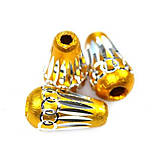 Korálky - Aluminio goldig konus - 9389233_