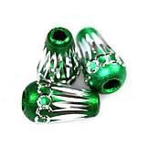 Korálky - Aluminio smeraldi konus - 9389918_
