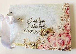 Papiernictvo - svadobná kniha hostí - 9385602_