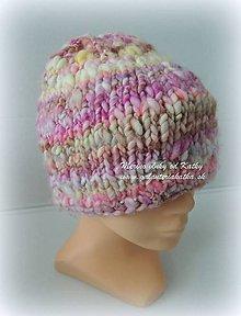 Detské čiapky - Čiapka z ručne farbenej a pradenej merino vlnky - 9385931_
