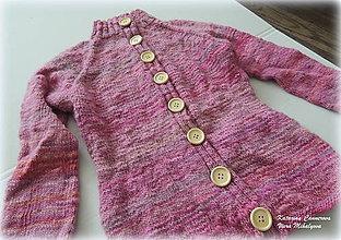 Detské oblečenie - Svetrík z ručne farbenej a ručne pradenej merino vlnky - 9385967_