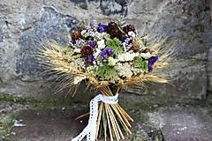 Dekorácie - Kytica zo sušených kvetín - 9386373_