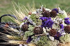 Dekorácie - Kytica zo sušených kvetín - 9386376_