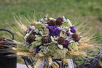 Dekorácie - Kytica zo sušených kvetín - 9386372_
