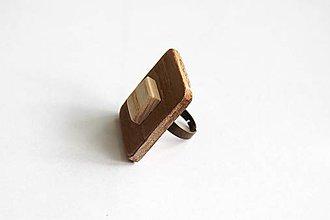 Prstene - Prstienok z dreva hnedý - 9386521_