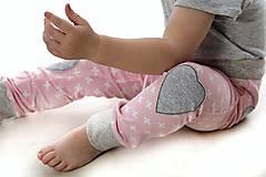 Detské oblečenie - Maia nohavice baby pink 110 - posledný kus! - 9387506_
