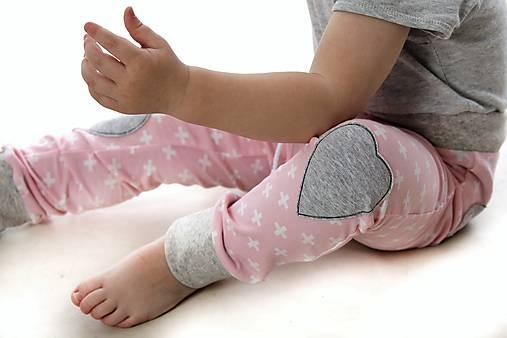 Maia nohavice baby pink 110 - posledný kus!