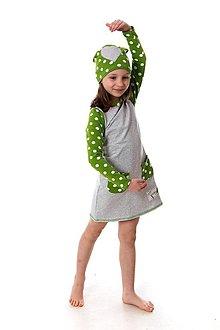 Detské oblečenie - Teplákové šaty Mimosa dots - 9387026_