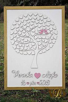 Obrazy - Svadobný strom  80 ľudí - 9386937_