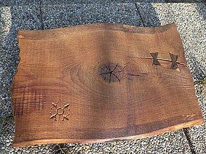 Pomôcky - Rustikálny dubový podnos, doska na krájanie - 9385834_
