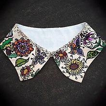 Náhrdelníky - Kvitnúci-hodvábny maľovaný golierik - 9386245_