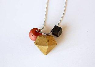 Náhrdelníky - Betónový mix trio náhrdelník - 9386007_