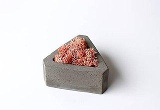 Dekorácie - Betónový mini kvetináč s islandským machom - 9388980_