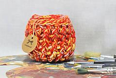 Košíky - Buřtíkatý dekorační košík Pallette 14×11,5 cm - 9389977_