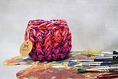 Košíky - Buřtíkatý dekorační košík Pallette 14×11,5 cm - 9389983_