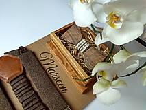 - Pánsky set - drevený motýlik a traky - 9389236_
