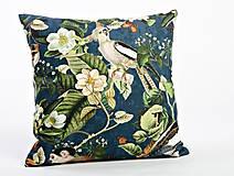 Úžitkový textil - Jungle vankúš - modrý - 9385590_