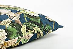 Úžitkový textil - Jungle vankúš - modrý - 9385591_