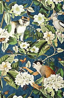 Úžitkový textil - Jungle Stolovanie - modré - 9385570_