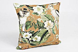 Úžitkový textil - Jungle Vankúš- hnedá - 9385575_