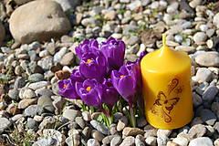 Svietidlá a sviečky - Sviečka s motýlikom - 9390107_