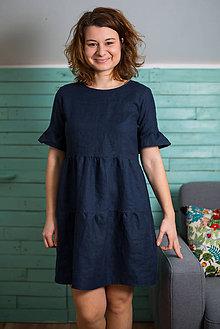 Šaty - miljö ľanové šaty - annorlunda - 9386455_