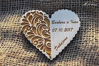Darčeky pre svadobčanov - Svadobná magnetka - 9387087_