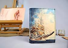 Tašky - Ručne maľovaná peňaženka s motívom Pirátskej lode - 9389303_