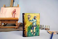 Tašky - Ručne maľovaná peňaženka s motívom Tenistu - 9389314_