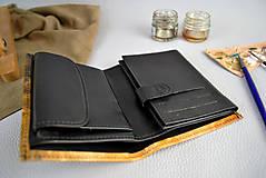Tašky - Kožená peňaženka s motívom Cyklistu - Ručná maľba - 9389339_