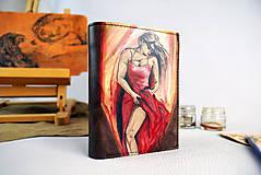 Tašky - Ručne maľovaná peňaženka s motívom Tanečnice - 9389400_