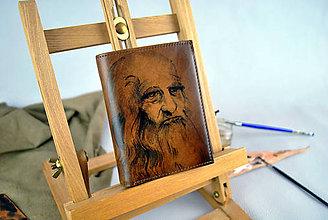 Peňaženky - Ručne maľovaná peňaženka inšpirovaná motívom Leonardo da Vinci - 9387841_