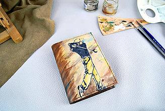 Tašky - Ručne maľovaná peňaženka s motívom Golfistu - 9387886_