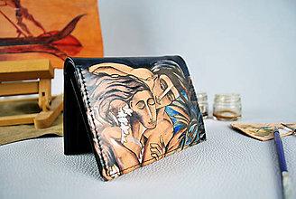 Peňaženky - Ručne maľovaná peňaženka s motívom Pod palmami - 9389244_