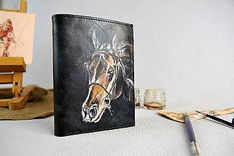 Peňaženky - Ručne maľovaná peňaženka s motívom Koňa - 9389357_