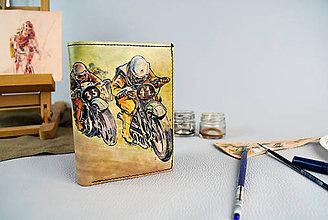 Tašky - Ručne maľovaná peňaženka s motívom Motocross - 9389377_